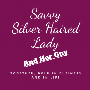 Savvy Silver Haired Lady Logo